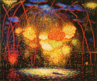 """""""The Rocket (1909),"""" by Edward Middleton Manigault - Licensed under Public Domain from Wikimedia Commons."""